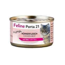 Porta 21 Feline - Консервы для котят (мясо цыпленка с рисом) Kitten (Chicken + Rice) - фото 15454