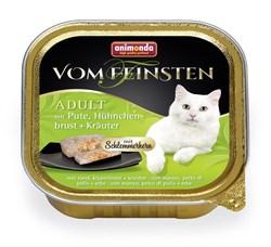 """Animonda - Консервы для взрослых кошек """"Меню для гурманов"""" (с индейкой, куриной грудкой и травами) Vom Feinsten Adult - фото 15661"""
