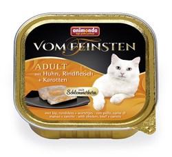 """Animonda - Консервы для взрослых кошек """"Меню для гурманов"""" (с курицей, говядиной и морковью) Vom Feinsten Adult - фото 15689"""