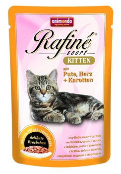 Animonda - Паучи для котят (с индейкой, сердцем и морковью) Rafine Soupe Kitten - фото 15692