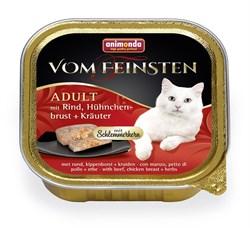 """Animonda - Консервы для взрослых кошек """"Меню для гурманов"""" (с говядиной, куриной грудкой и травами) Vom Feinsten Adult - фото 15709"""