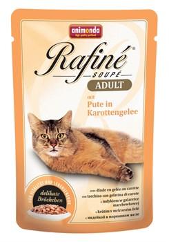Animonda - Паучи для взрослых кошек (с индейкой в морковном желе) Rafine Soupe Adult - фото 15710
