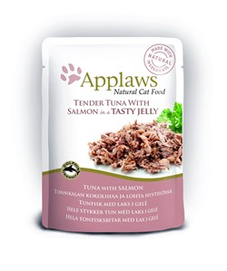 "Applaws - Паучи для кошек ""Кусочки тунца с лососем в желе"" Cat Pouch Tuna Whole Meat with Salmon in Jelly - фото 15987"