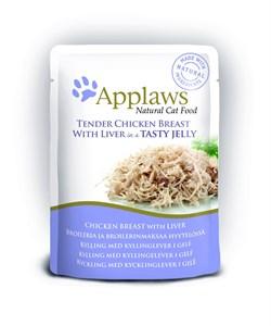 "Applaws - Паучи для кошек ""Кусочки курицы с печенью в желе"" Cat Pouch Chicken with Liver in Jelly - фото 15993"