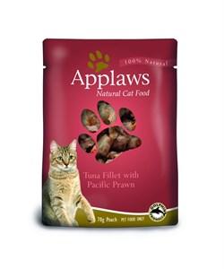 Applaws - Паучи для кошек (с тунцом и королевскими креветками) Cat Pouch Tuna and Pacifc Prawn - фото 16001