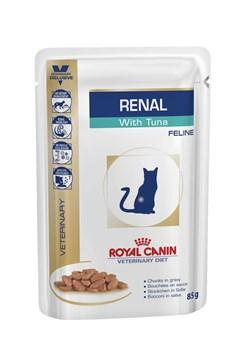 Royal Canin (вет. диета) - Паучи для кошек при почечной недостаточности (с тунцом) RENAL - фото 16273