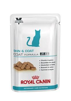 Royal Canin - (вет. диета) - Паучи для стерилизованных кошек для кожи и шерсти SKIN & COAT FORMULA - фото 16285