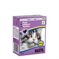 BOZITA - Консервы для кошек (кусочки в желе с индейкой) Feline Minced Turkey Tetra Pak - фото 16300
