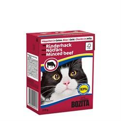 BOZITA - Консервы для кошек (кусочки в желе с говядиной) Tetra Pak Feline Minced Beef - фото 16301