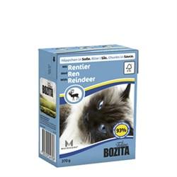 BOZITA - Консервы для кошек (кусочки в соусе с мясом оленя) Feline Reindeer Tetra Pak - фото 16307