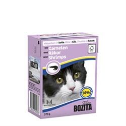 BOZITA - Консервы для кошек (кусочки в соусе с креветками) Feline Shimps Tetra Pak - фото 16312