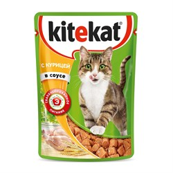 Kitekat - Паучи для кошек (с курицей в соусе) - фото 16332