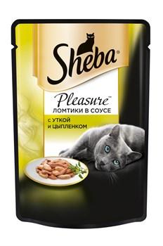 Sheba - Паучи для кошек (с уткой и цыпленком) Pleasure - фото 16379