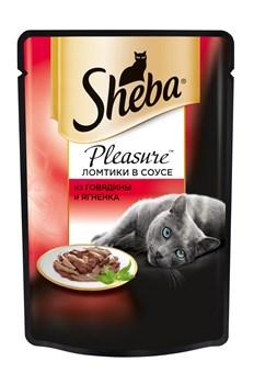 Sheba - Паучи для кошек (с говядиной и ягненком) Pleasure - фото 16383