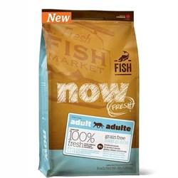 NOW Natural Holistic - Сухой корм беззерновой для взрослых кошек для чувствительного пищеварения (с форелью и лососем) Grain Free Fish Adult Cat Recipe - фото 16431