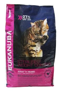 Eukanuba - Сухой корм для взрослых кошек с избыточным весом и стерилизованных (с курицей и печенью) Adult For Overweight/Sterilized Cats Chicken & Liver - фото 16437