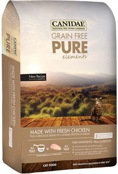 "Canidae - Сухой корм для кошек, беззерновая формула ""Чистые элементы"" (со свежим мясом цыплёнка) Grain Free Pure Elements with Fresh Chicken - фото 16488"