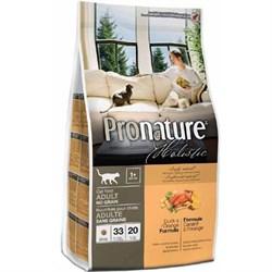 Pronature Holistic - Сухой корм беззерновой для кошек (утка с апельсином) - фото 16498