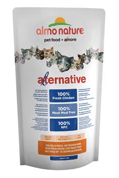 Almo Nature Alternative - Сухой корм для кошек (со свежим цыпленком) 55% мяса Alternative Chicken and Rice - фото 16582
