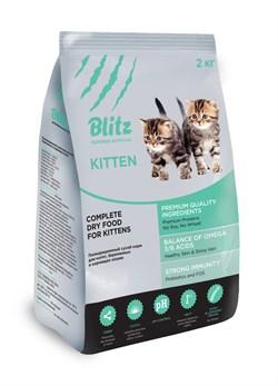 Blitz - Сухой корм для котят, беременных и кормящих кошек (с индейкой) Kitten - фото 16607