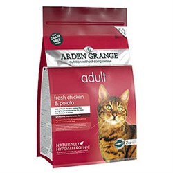 Arden Grange - Сухой беззерновой корм для взрослых кошек (с курицей и картофелем) Adult Cat Chicken & Potato - фото 16699