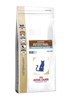 """Royal Canin (вет. диета) - Сухой корм для кошек """"Контроль веса"""" при нарушении пищеварения GASTRO INTESTINAL MODERATE CALORIE GIM35 - фото 16794"""