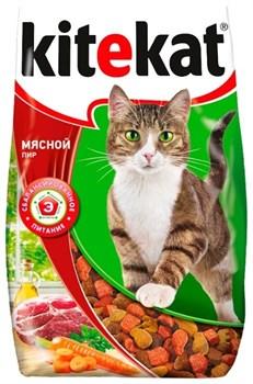 """Kitekat - Сухой корм для кошек """"Мясной пир"""" - фото 16833"""