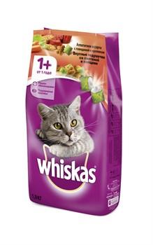 Whiskas - Сухой корм для кошек (подушечки с паштетом из говядины и кролика со сметаной и овощами) - фото 16844