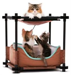 "Kitty City - Лежак для кошек Барские покои ""Cozy Bed"", 44*45*45см - фото 16858"