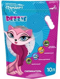 """Dezzie - Наполнитель для кошачьих туалетов силикагель """"Стандарт"""" (без запаха) 10 л - фото 16873"""