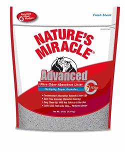 8in1 - Наполнитель комкующийся бумажный для кошачьего туалета (натуральный аромат) Nature's Miracle Odor Control Paper Cat Litter - фото 16877