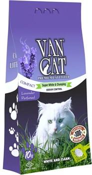 Van Cat - Наполнитель комкующийся без пыли для кошек (с ароматом лаванды) Lavender - фото 16882