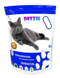 """Dezzie - Наполнитель для кошачьих туалетов силикагель """"Стандарт"""" (без запаха) 5л - фото 16889"""