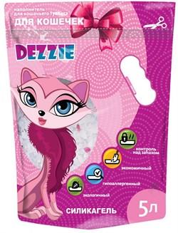 """Dezzie - Наполнитель для кошачьих туалетов силикагель """"Для кошечек"""" (без запаха) 5л - фото 16894"""