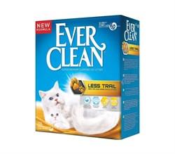 Ever Clean - Наполнитель комкующийся для длинношерстных кошек (желтая полоса) Less Trail - фото 16897