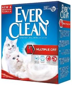 Ever Clean - Комкующийся наполнитель для кошек (красная полоса) Multiple Cat - фото 16911