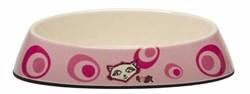 "Rogz - Миска для комфортного кормления ""Fishcake"", ""Розовое цветение"", 200 мл MELAMINE CAT BOWL - фото 17001"