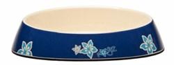 "Rogz - Миска для комфортного кормления ""Fishcake"", ""Синие цветы"", 200 мл MELAMINE CAT BOWL - фото 17009"