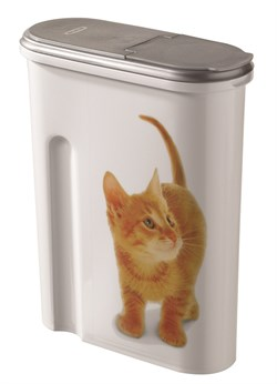 "Curver PetLife - Контейнер для корма ""Кошка"" на 1,5кг/4,5л, 25*10*30см - фото 17049"