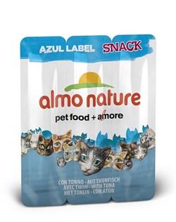 Almo Nature - Колбаски для кошек, 3шт. (тунец) Azul Label Snack Cat Tuna - фото 17058