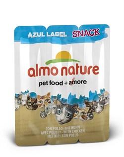 Almo Nature - Колбаски для кошек, 3шт. (курица) Azul Label Snack Cat Chicken - фото 17059