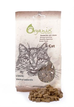 """Organix - Лакомства для кошек """"Зубочистки для здоровья зубов"""" Cat Dental Bites - фото 17079"""