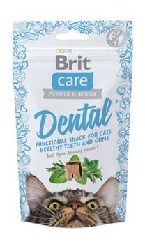 Brit - Лакомство для кошек для очистки зубов Care Dental - фото 17102
