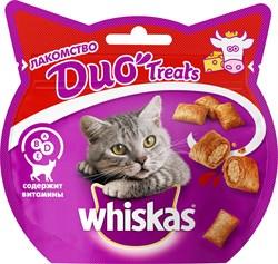 Whiskas - Лакомые подушечки (с говядиной и сыром) Duo Treats - фото 17134