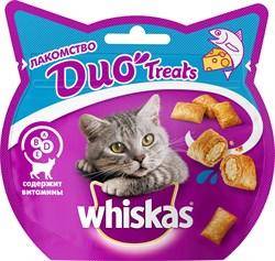 Whiskas - Лакомые подушечки (с лососем и сыром) Duo Treats - фото 17135