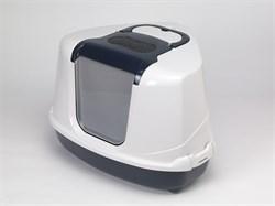 Moderna - Туалет-домик угловой Flip с угольным фильтром, 55х45х38см, черничный - фото 17157