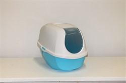 Moderna - Туалет-домик SmartCat с угольным фильтром, 54х40х41см,  небесно-голубой - фото 17160