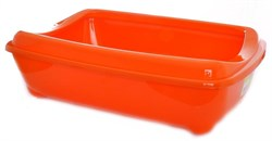 Moderna - Туалет-лоток большой с рамкой artist large + rim, 49х37х13 оранжевый - фото 17193