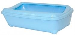 Moderna - Туалет-лоток большой с рамкой artist large + rim, 49х37х13 небесно голубой - фото 17204