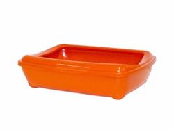 Moderna - Туалет-лоток большой с рамкой  artist large + rim, 57х43х15 jumbo оранжевый - фото 17213